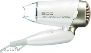 ECG VV 1200 Travel S Utazó hajszárító fehér 1200W