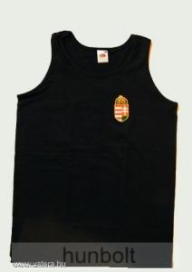 Fekete hímzett címeres atléta S