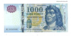 2015 1000 forint DE UNC