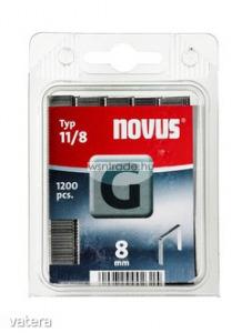 Novus tűzőkapcsok, lapos G11 8 mm 1200 db