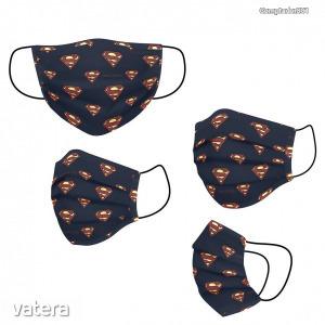 Superman mintás arcmaszk (5-10év) - Vatera.hu Kép