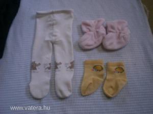2db-os bébi csomag, harisnya, kocsicipő, zokni