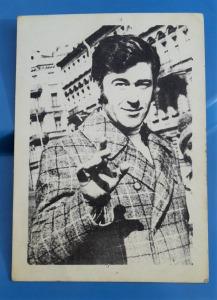 Koós János dedikált portré fotó 1970-es évekből - hátoldalon az énekes saját kezű soraival