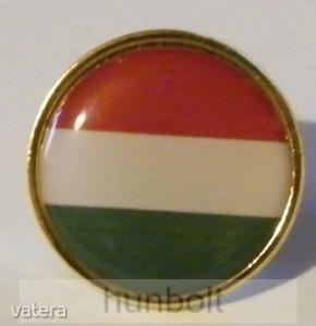 Aranyszélű kerek nemzeti jelvény 20 mm - Vatera.hu Kép