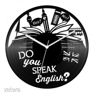 Angol nyelvtanár bakelit óra