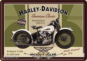Harley Davidson - 1949. PANHEAD. fém képeslap