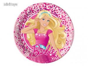 Barbie Fabulous közepes papírtányér 8db 20cm