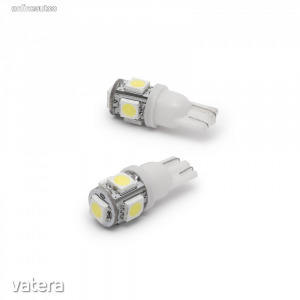 Led izzó T10 foglalat 5 SMD LED 6000K