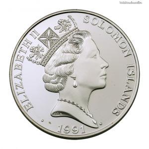 Salamon-szigetek ezüst 10 Dollár 1991 PP