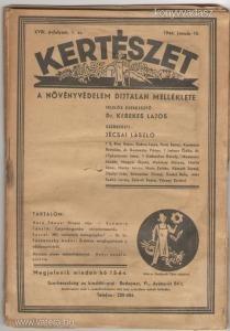 KERTÉSZET 1944 XVIII. ÉVF 1-10 SZÁM (10 DB LAP)