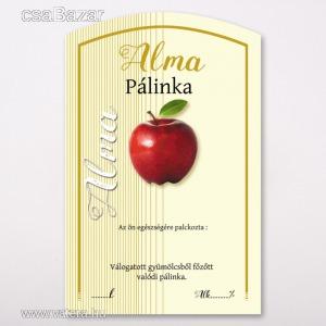 Íves pálinka címke Alma