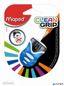 Hegyező, egylyukú, tartályos, MAPED 'Clean Grip' ,vegyes színek