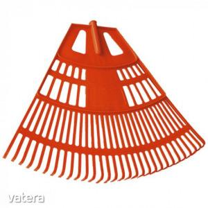 Lombseprű nagy műanyag 75cm íves narancssárga NYÉL NÉLKÜL