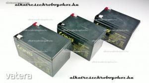 12V 12Ah gondozásmentes elektromos kerékpár akkumulátor (6-DZM-12)