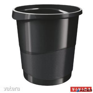 Papírkosár, 14 liter, ESSELTE 'Europost', Vivida fekete