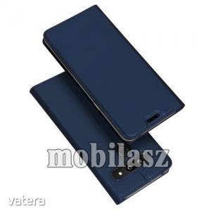 LG G8 ThinQ, Dux Ducis slim design notesz tok, Oldalra nyíló flip cover, Mágneses záródás, Sötétkék