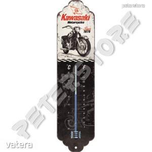Retró Fém Hőmérő - Kawasaki