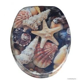 WC tető - 3D - Tengeri kagylók