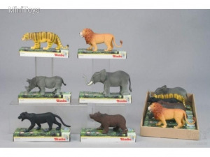 Vadállatok-figurák, 6 féle