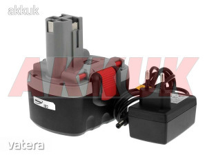Helyettesítő akku Bosch típ. 2607335685 O-akku Li-Ion töltővel