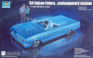 TRUMPETER 1964 FORD FALCON FUTURA CONTEMPORARY CUSTOM (PLASTIC MODELL KIT) 1:25