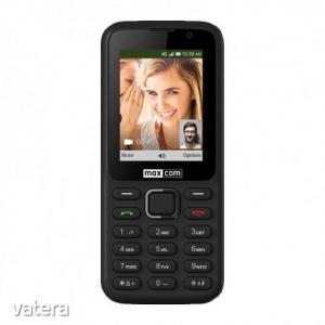 Maxcom MK241 mobiltelefon, kártyafüggetlen, bluetooth-os, fm rádiós fekete KaiOS operációs rendsz...