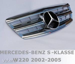 Mercedes Benz W220 2002- 2005 krómozott hűtőrács AMG stílusban