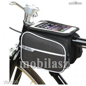 UNIVERZÁLIS biciklis / kerékpáros tartó konzol mobiltelefon készülékekhez - vázra rögzíthető, tép...