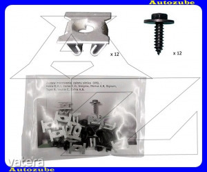OPEL  CORSA  C  2000.09-2006.08  /X01/  Alsó  motorvédő  burkolat  rögzítő  készlet  (24db)  {ROMIX}