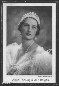 Asztrid belga királyné /született Asztrid svéd hercegnő, élt 30 évet/ gyász-kártyája 1935-ből - 300 Ft - (meghosszabbítva: 2912877494) Kép
