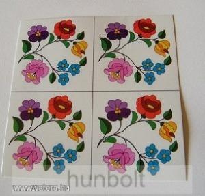 Kalocsai virágok matrica 5x5 cm 4 db