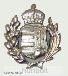 Ezüst koronás címer (22 mm) jelvény
