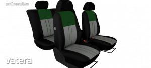 Univerzális Üléshuzat Tuning Due velúr szövet és kárpit kombináció szürke és zöld színben