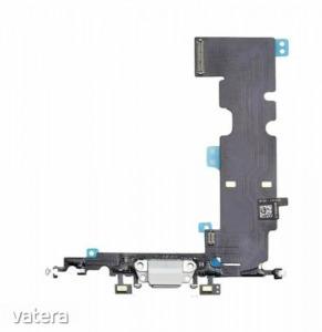 Töltő csatlakozó flex kábellel és mikrofonnal Iphone 8 Plus, fehér