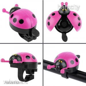 Katica Biciklicsengő - Katicás Bicikli Csengő - Pink Rózsaszín