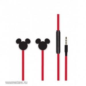 Disney sztereo headset - 3D Mickey 3,5mm jack piros