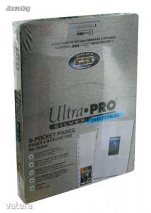 Ultra Pro Silver 9 zsebes kártya tartó lap 11 lyukú, mappalap doboz - 100 lap/doboz- focis kártya