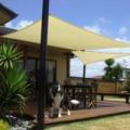 Napvitorla - árnyékoló, teraszra és kertbe négyzet alakú 5x5m