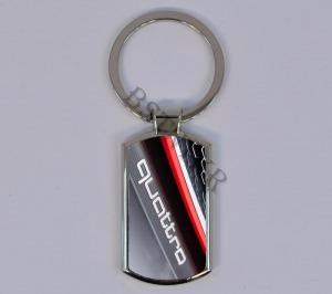 Audi mintás elegáns fém kulcstartó