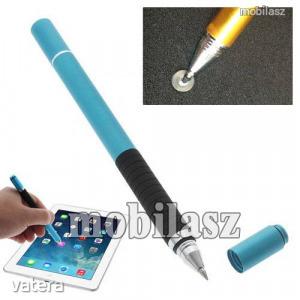 Érintőképernyő ceruza / golyós toll - kapacitív kijelzőhöz, vékony hegyű! - világoskék