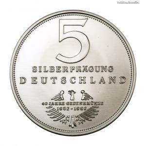 Németország 5 Márka ezüst emlékérem 1952-1992