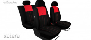 Univerzális Üléshuzat Tuning Due velúr szövet és kárpit kombináció fekete és piros színben
