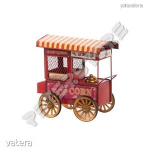 Fém modell, makett - Büfékocsi - Popcorn, Ice Cream, Fagyi