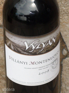 VYLYAN: VILLÁNYI MONTENUOVO CUVÉE prémium bor 2008. 13,5%. (Cabernet franc, merlot, syrah.)