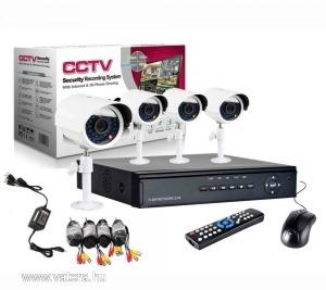Biztonsági kamera rendszer DVR 4 kamerás postával