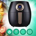 EasyChef 1400W LCD kijelzős olaj nélküli forrólevegős fritőz 2.6 liter