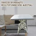 Összecsukható multifunkciós asztal / hordozható, állítható magasságú