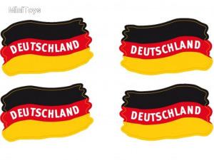 Arcra rakható német szurkolói dísz