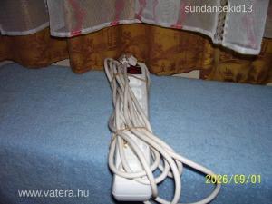 Hálózati 6-os dugalj elosztó hosszabbító 5 méteres új nagyon olcsón !!!