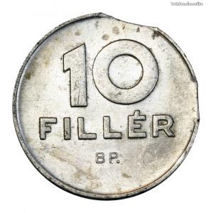 Magyar Népköztársaság 10 Fillér 1987 kicsípett veret